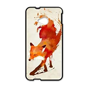 The Stylish Designs Art Handsome Fox Htc One M7 Case Cover Shell (Laser Technology)