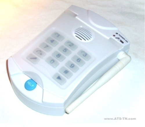 HELP Dialer 700 with Necklace and Wrist Panic Buttons - No Monthly Fees Medical Alert System by Assistive Technology Services