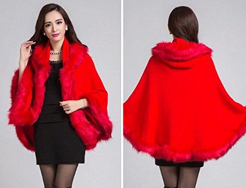PLAER - Abrigo - capa - para mujer Bright Red