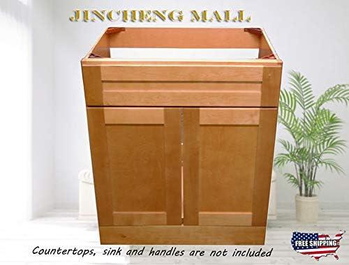 30 W x 21 D New Maple Shaker Single-Sink Bathroom Vanity Base Cabinet Suit Any Bathroom Style