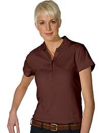 Womens Dry Mesh Short Sleeve Mesh Weave Polo Shirt