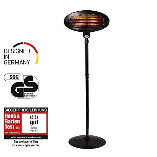 SUNTEC Calefactor de terraza | Radiador electrico de bajo consumo | Estufa electrica para el exterior | Calentador sin…