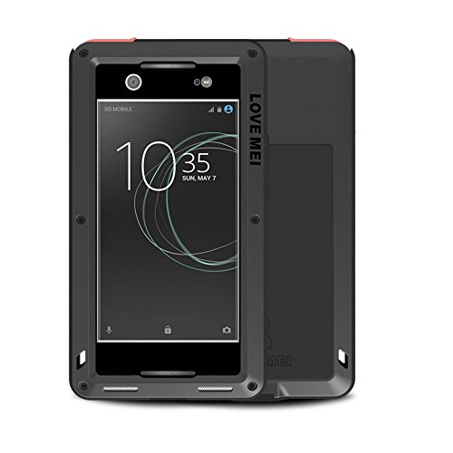 Aluminum Metal Bumper Case Shockproof Cover for Sony Xperia XZ Black - 1