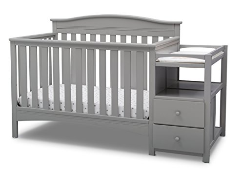 Delta Children Birkley Convertible Crib and Changer, Grey from Delta Children