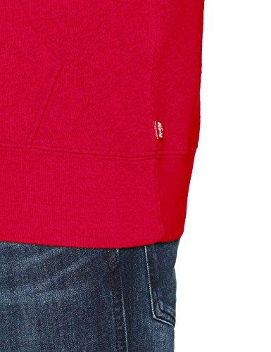 Over Levi's uomo Pull 0026 sportivo Graphic abbigliamento Chinese Red rosso Cappuccio Po b Hoodie vZArvq