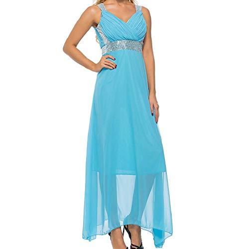 Da Lunghi Sera Formale Cocktail Vicgrey Dress Donna Chiaro Vestiti Abito  Elegante Abiti Banchetto Cerimonia Matrimonio ... aa40014080c