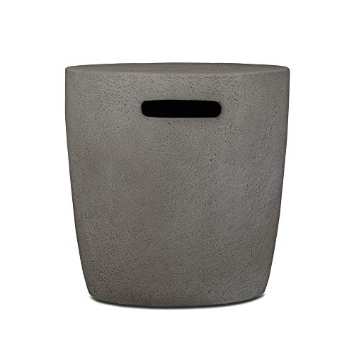 Real Flame 564-GLG 564 Riverside 20lb. Propane Tank Cover, Glacier Grey ()