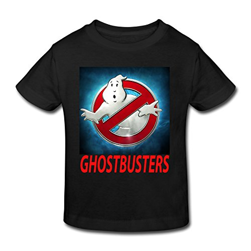 Ghostbuster T Shirts For Kids (Age 2-6 Kids Toddler Ghostbusters Logo Boys' Girls' T Shirts (Black,5-6 Toddler))