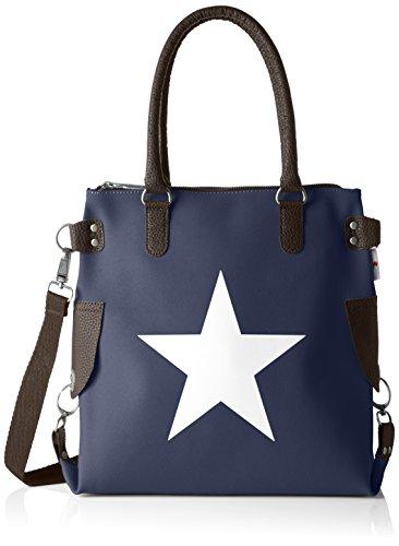 Bolso Blau hombro Bags4Less de mini Mujer Velours dunkelblau Stern OYqqZET