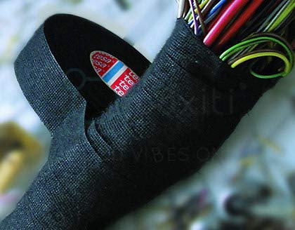 Boxiti set of 6 pcs Tesa 51608 Black Fuzzy Fleece Interior Wire Loom Harness Tape 19 mm X 15 Meters  by Boxiti (Image #3)