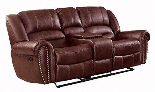Saddle Reclining Leather - Homelegance Center Hill 83