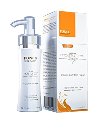 This Moisturizer Will Change Your Life.- Premium Organic Daily Skin Repair Oil-Free Facial Moisturizer 3.2oz, All-Natural Effective Face Moisturizer. New & Enhanced PUNCH Skin Care from Punch Skin Care