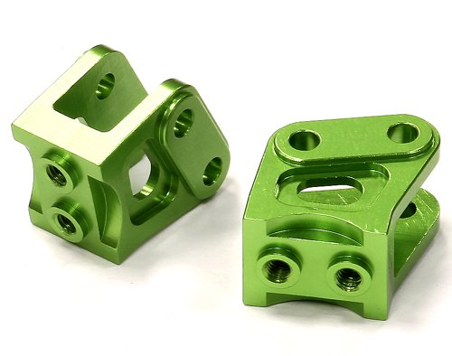 Lower Suspension Mount (Integy RC Model Hop-ups C24527GREEN Billet Machined Alloy T3 Lower Suspension Link Mount (2) for Axial Wraith)