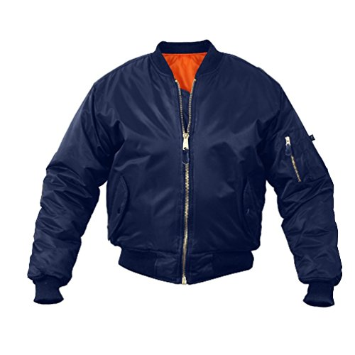 Melonie clothing Flight Jacket Military Navy USAF Air Force Bomber Jacket Reversable