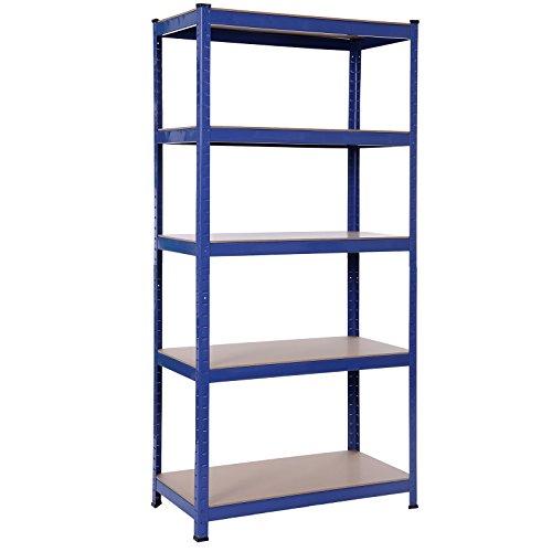 Songmics Lagerregal 1325kg Schwerlastregal Pulverbeschichtet in Blau, 180 x 90 x 45 cm GLR45Q