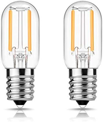 DORESshop E17 LED Bulb for Microwave Oven Appliance, 20W Incandescent Equivalent, 20 Watt Appliance Bulb, Salt Lamp, Warm White 2700K, Non-dimmable, Pack of 2