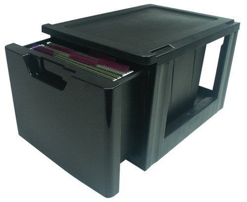 IRIS Premier Stacking File Drawer Black by ''IRIS USA, Inc.'' by IRIS USA, Inc.