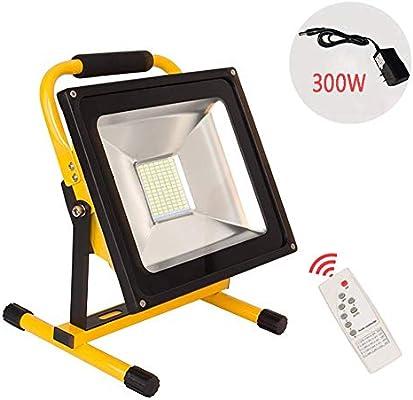 Wapipey Proyector LED recargable de 300 W Lámpara de seguridad ...