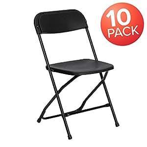Fantastic Flash Furniture 10 Pk Hercules Series 650 Lb Capacity Premium Black Plastic Folding Chair 10 Le L 3 Bk Gg Caraccident5 Cool Chair Designs And Ideas Caraccident5Info
