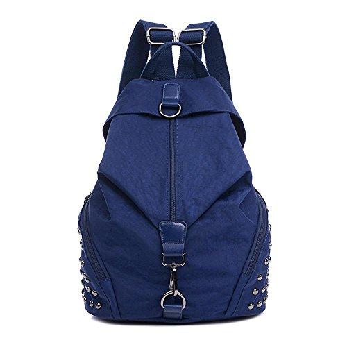 Aoligei Cartable en nylon imperméable sac à dos mode sport Backpack Rivet E