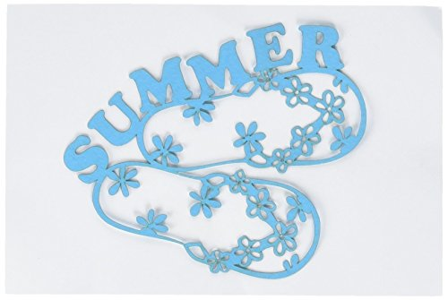 Scrapbook 101 Shape Cardstock Die Cuts, Summer/Flip Flops (Flip Flops Die Cut)