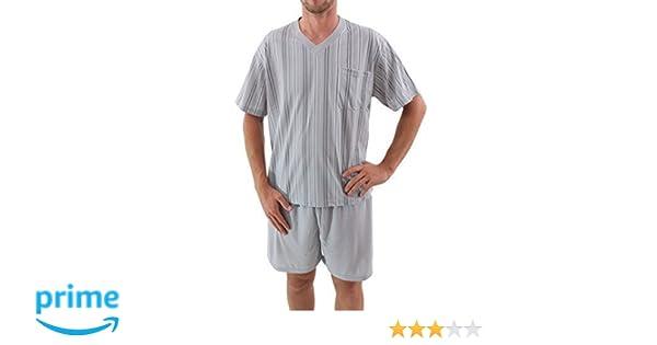 Pijama de hombres corto Short Pijama Algodón: Amazon.es: Ropa y accesorios