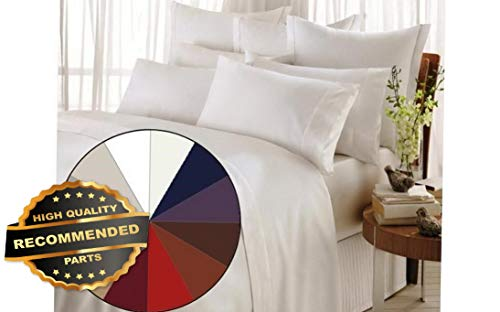 Werrox 1200 Thread Count 4 Piece Bed Sheet Set Twin Size | Quilt Style QLTR-291266550