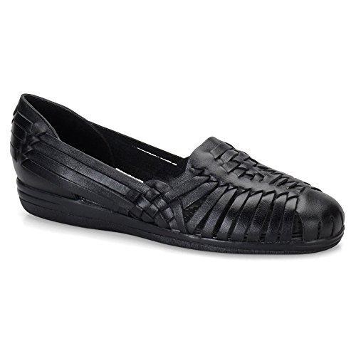 Leather Huarache Softspots - softspots Women's Trinidad Huarache Sandals Black