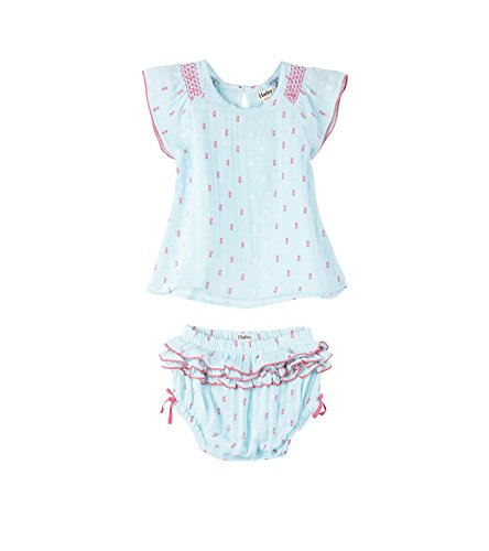 Hatley Baby Girls Mini Bloomer Sets, Chambray/Swiss dots 6-9 Months