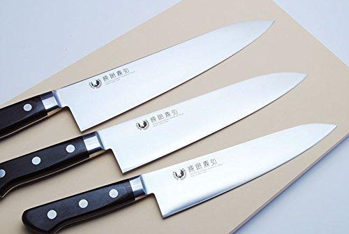 Yoshihiro Ginsan-Ko High Carbon Stain Resistant Steel Gyuto Japanese Chefs Knife with Nuri Saya Cover (8.25'' (210mm)) by Yoshihiro (Image #7)