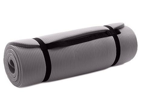 Esterilla de yoga gris, 15 mm de grosor, para deportes y ...