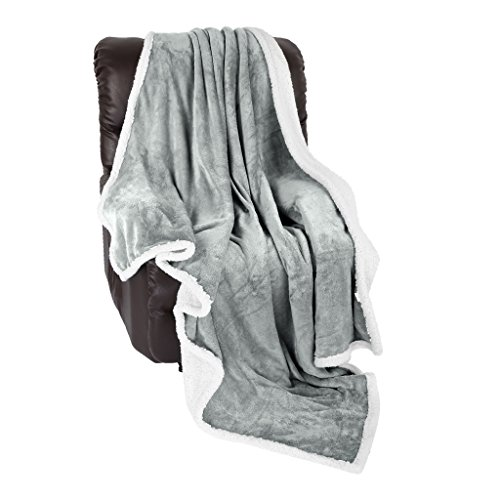 LANGRIA Sherpa Blanket Super Soft Warm Breathab...