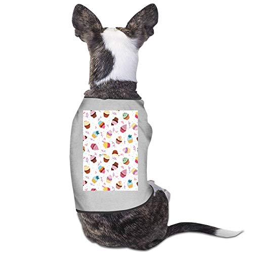 RSADGER Pet Clothing Little Delicious Cupcakes Printed T Shirts Dogs Summer Vest Puppy Pet Shirt
