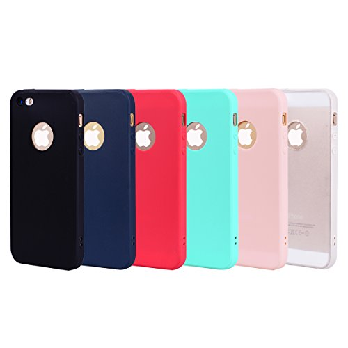 iPhone 5 5S SE Hülle , Fashion Grün TPU Leicht Weich Tasche Schutzhülle Silikon Handyhülle Stoßdämpfende Clear Schale Fall Case Shell für Apple iPhone 5 5S SE