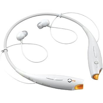 LG Electronics HBS-700W Wireless Bluetooth Stereo Bluetooth Headset - White/Orange
