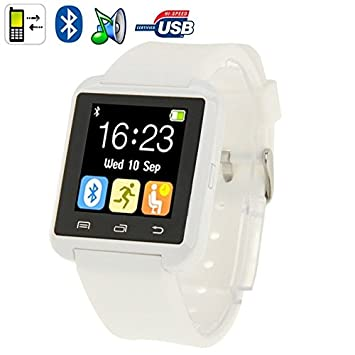 Reloj inteligente Bluetooth Android pantalla LCD Kit manos libres, color blanco: Amazon.es: Electrónica