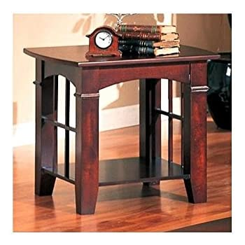 Good Coaster End Table, Cherry Finish