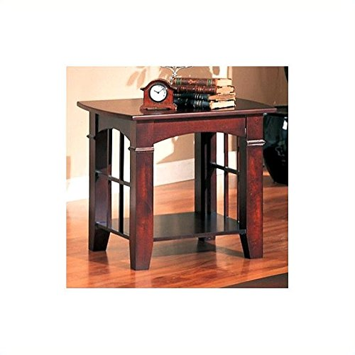 Coaster End Table, Cherry (Cherry Living Room End Table)