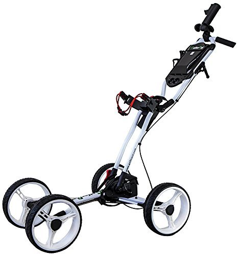 Total Automatic Folding Golf Push Cart by Golferpal (please see youtube video for more detail of this amazing design) (White)
