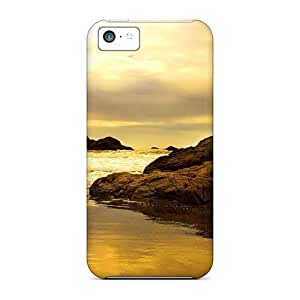 TYHde Iphone 5c Case Slim [ultra Fit] Golden Coast Protective Case Cover ending