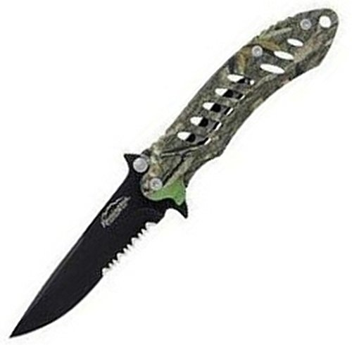 Remington Cutlery R18214 F.A.S.T. Large Folder Knife with Black Oxide Finish Serrated Blade, 5-Inch, Mossy Oak Obsession