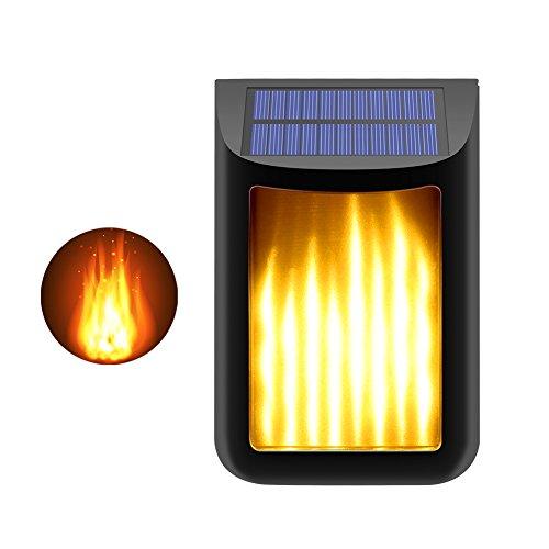 CINOTON Solar Lights,Path Dancing Flame Lighting 66 LED Dusk to Dawn Flickering Outdoor Waterproof Fence garden wall lights (1 pcak)