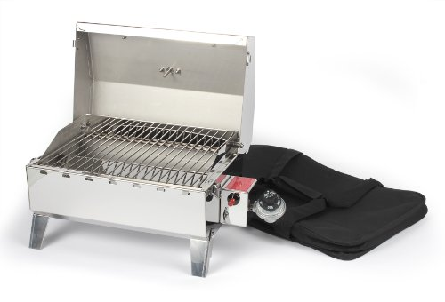 Camco 58145 Stainless Steel Portable Propane Gas Grill