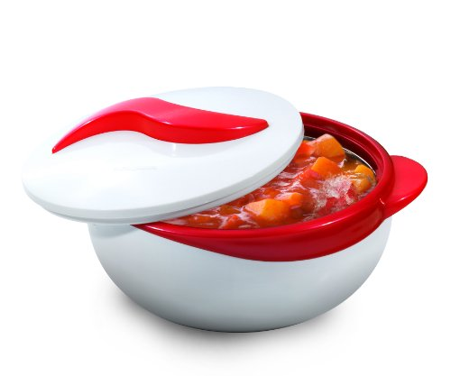 UPC 700175832443, Pinnacle RED Serving Salad/ Soup Dish Bowl - Thermal Insulated Bowl with Lid -Great Bowl for Holiday, Dinner and Party 2.5 qt.