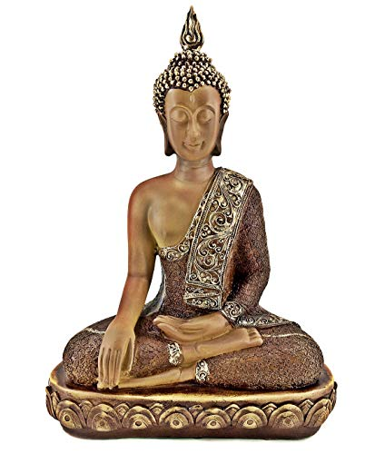 Bellaa 23286 Buddha Statue Meditation Earth Touching Mudra 15