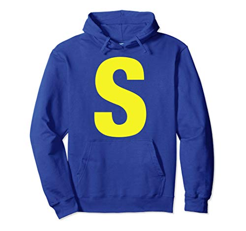Initials Name Letter S-Simon Chipmunk Christmas Hoodie]()
