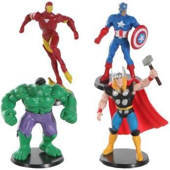 Avengers Mini Figures//gâteau Toppers de IRON MAN CAPTAIN AMERICA ET HULK LE LONG