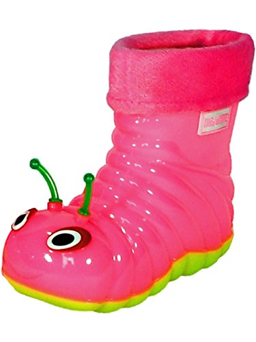 Children's Waterproof Rain Boots Cartoon Animals Toddler/Little Kid (24 (6 M US Toddler), Pink)