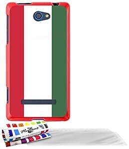 """Carcasa Flexible Ultra-Slim HTC 8S de exclusivo motivo [Hungria Bandera] [Roja] de MUZZANO  + 3 Pelliculas de Pantalla """"UltraClear"""" + ESTILETE y PAÑO MUZZANO REGALADOS - La Protección Antigolpes ULTIMA, ELEGANTE Y DURADERA para su HTC 8S"""