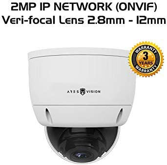 Ares Vision 2MP IP Network Veri-Focal Zoom-able Vandal Proof Dome CCTV Camera w IR Night Vision
